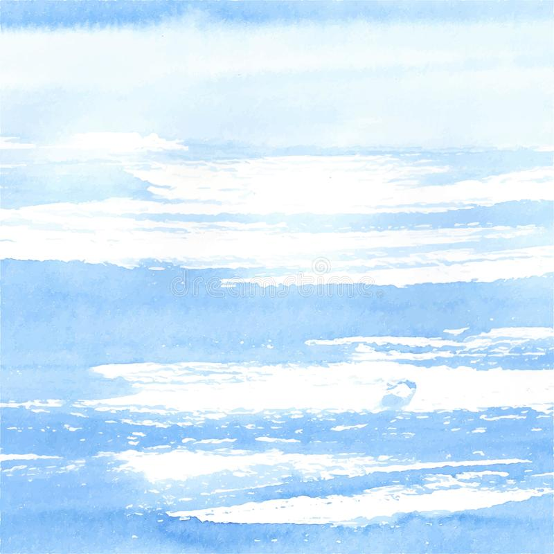 Watercolor sea or sky background royalty free illustration