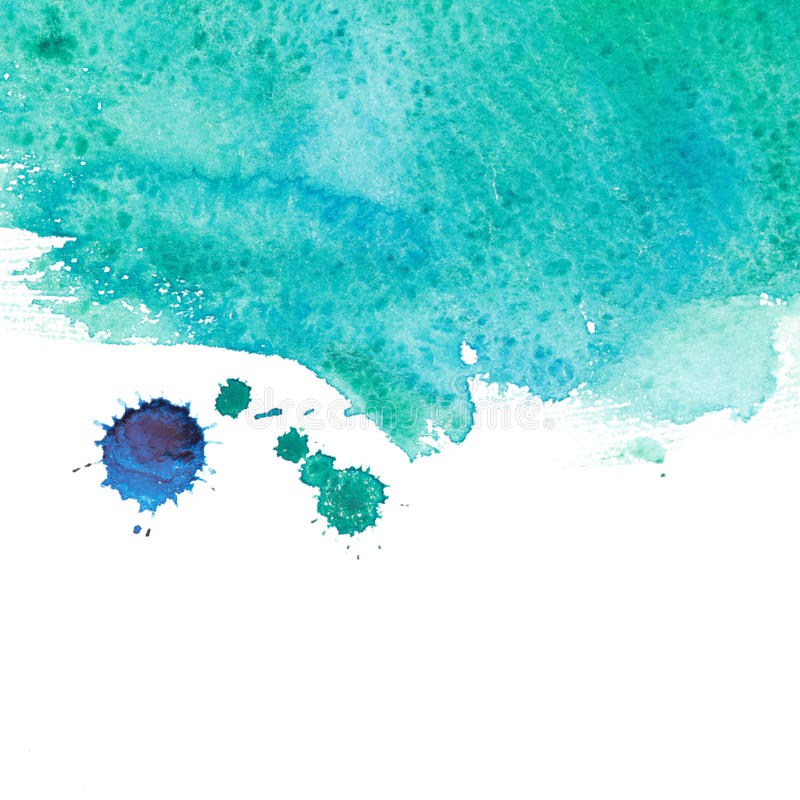 Watercolor sea wave. Abstract watercolor hand painted background