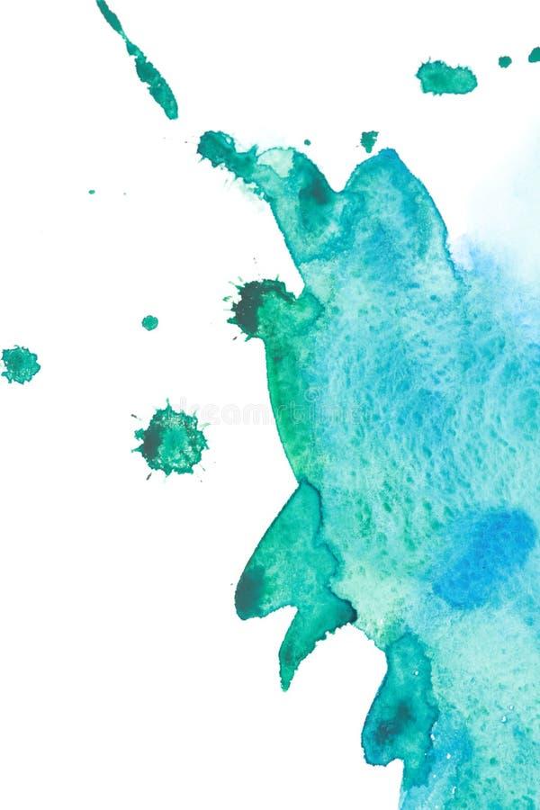 Download Watercolor sea wave splash stock illustration. Image of paper - 15651987
