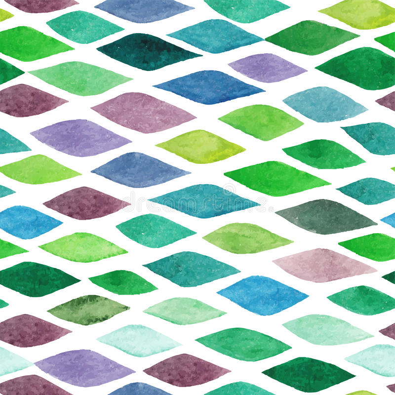 Watercolor seamless abstract hand-drawn pattern, endless modern stock illustration