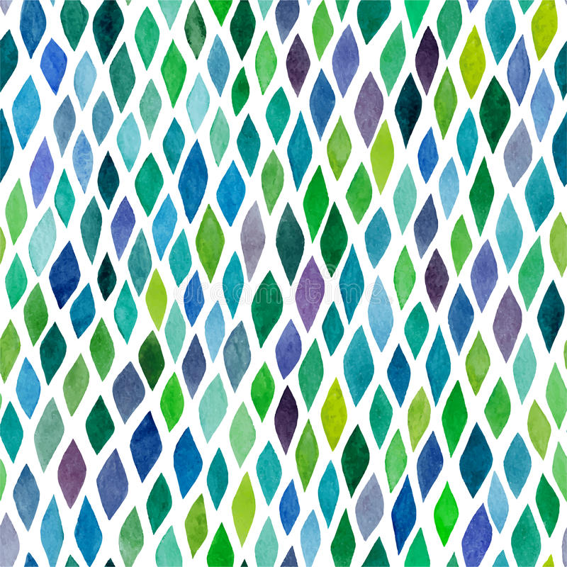 Watercolor seamless abstract hand-drawn pattern, endless modern vector illustration