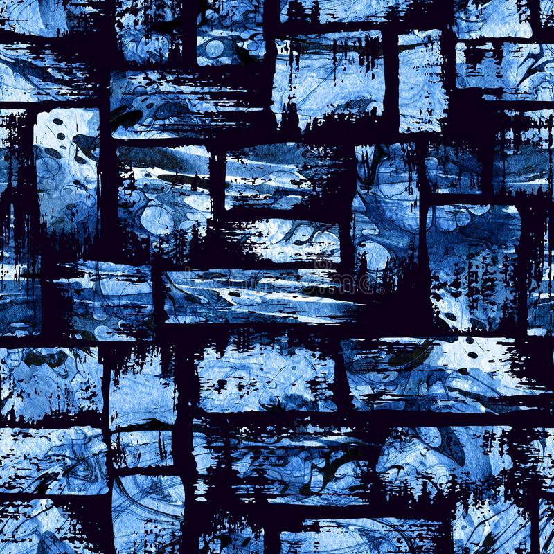 seamless dark water texture.  Water Download Watercolor Seamless Pattern With Brush Stripes And Strokes Blue  Color On Dark Background In Water Texture