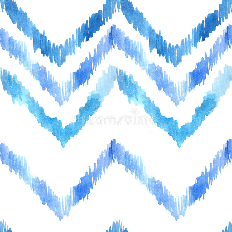 Watercolor seamless pattern with ethnic motifs stock illustration