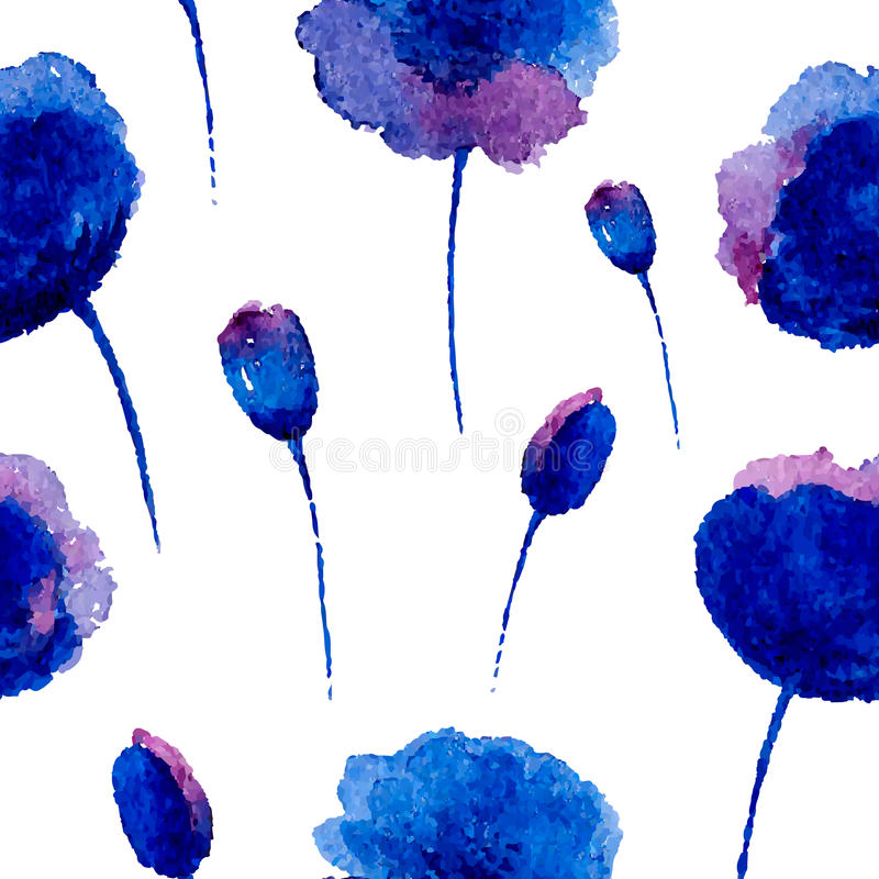 Watercolor seamless pattern. stock illustration