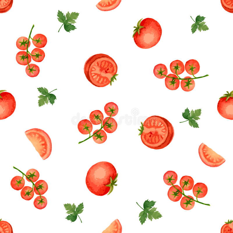 Watercolor seamless pattern royalty free illustration