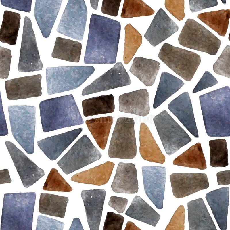 Watercolor seamless stone texture stock illustration