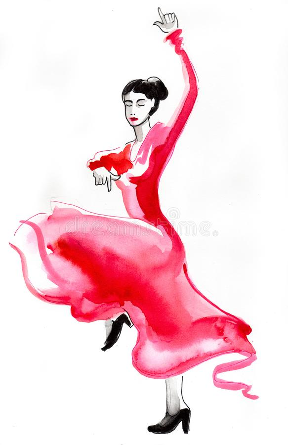 Flamenco dancer royalty free illustration