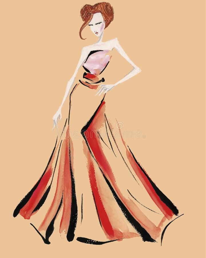 Sketch Girl Short Dress Stock Illustrations 1 538 Sketch Girl Short Dress Stock Illustrations Vectors Clipart Dreamstime