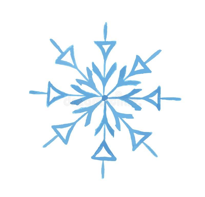 watercolor snowflake. stock image