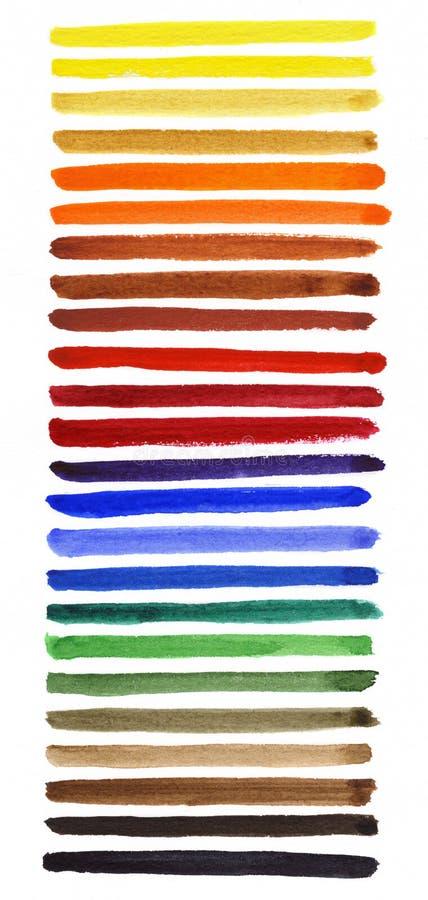 Watercolor Spectrum Stock Images