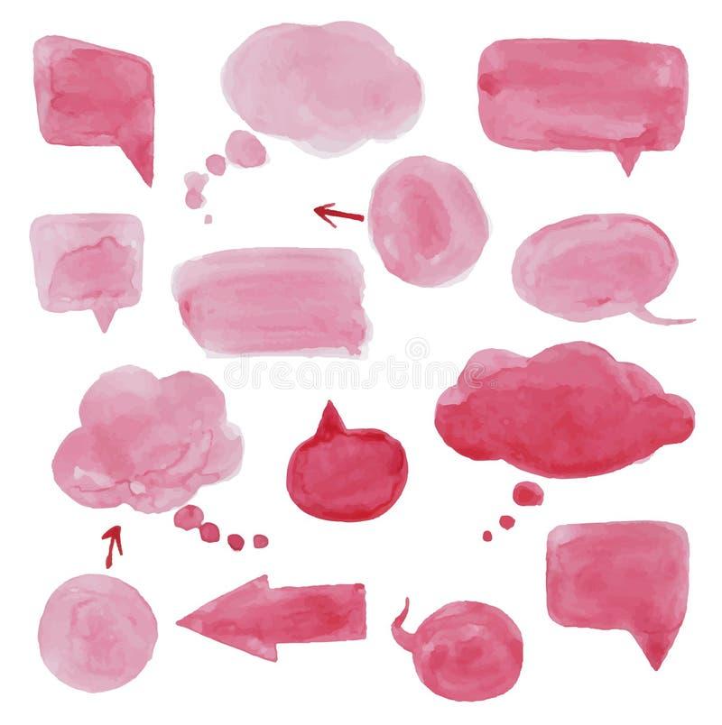Watercolor Speech bubbles. stock illustration