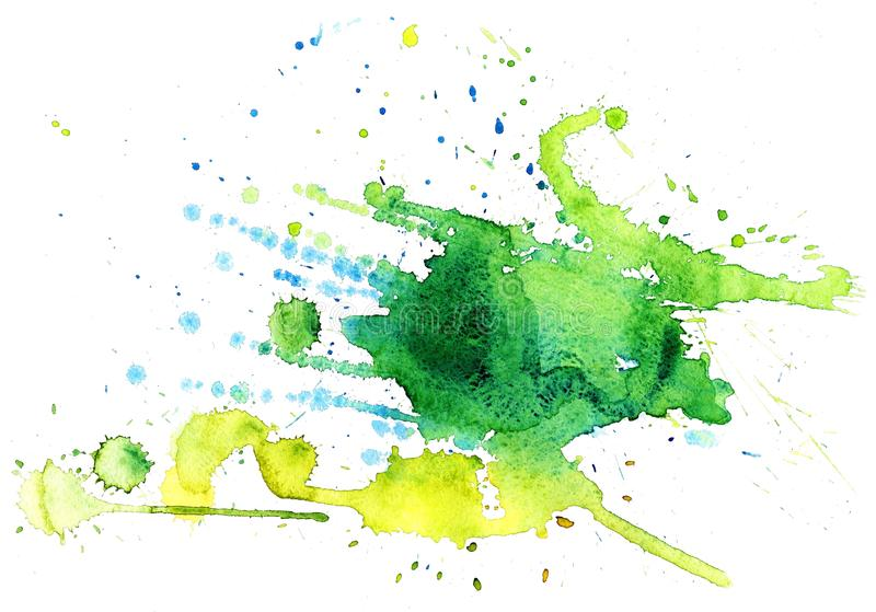 Watercolor splash. Abstract color watercolor on white background stock image