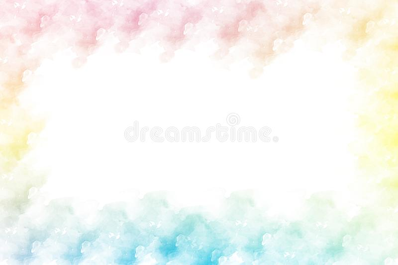Watercolor splash frame background . Watercolor splash frame background. Vector illustration. Usable for different purposes stock photos