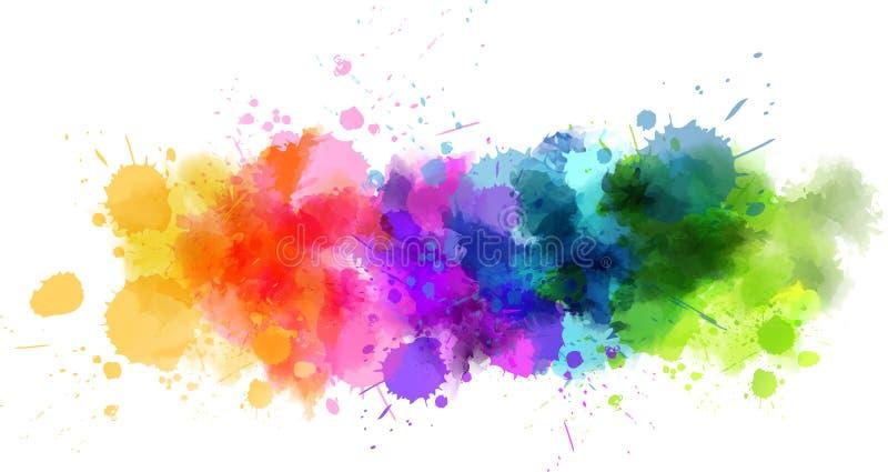 Watercolor splash line royalty free illustration