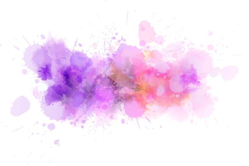 Watercolor splash line vector illustration