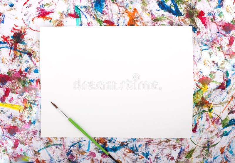 Watercolor, splash, paper stock image