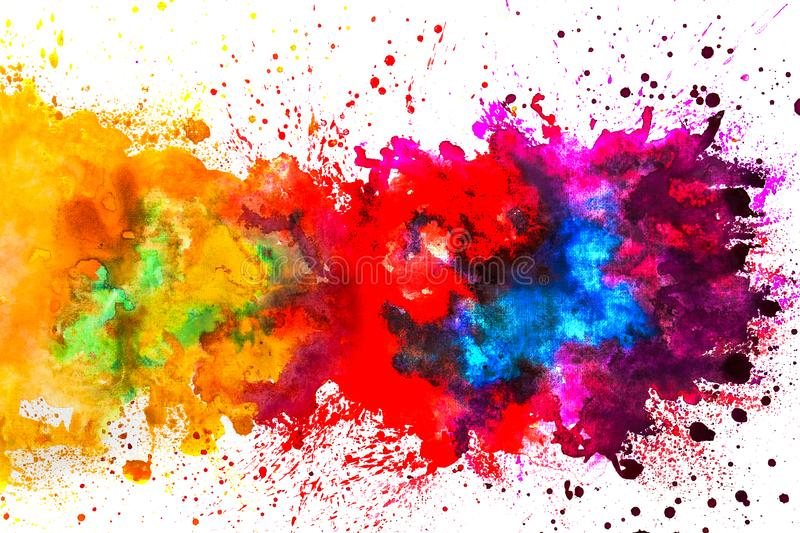 Watercolor splash on white background. royalty free stock images