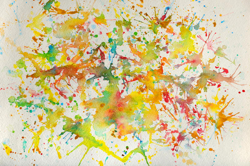 Download Watercolor Splashes stock photo. Image of blue, paintbrush - 19170438