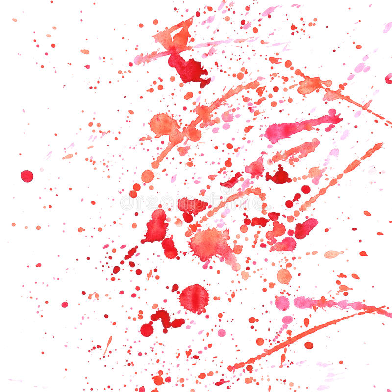 Watercolor splashes pattern stock image