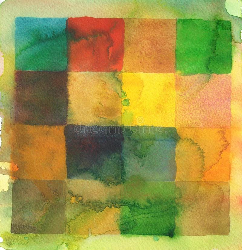 Download Watercolor Squares Abstract Background Stock Illustration - Illustration: 10755526