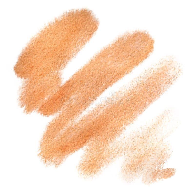 Watercolor Orange stain, background, blob, texture vector illustration