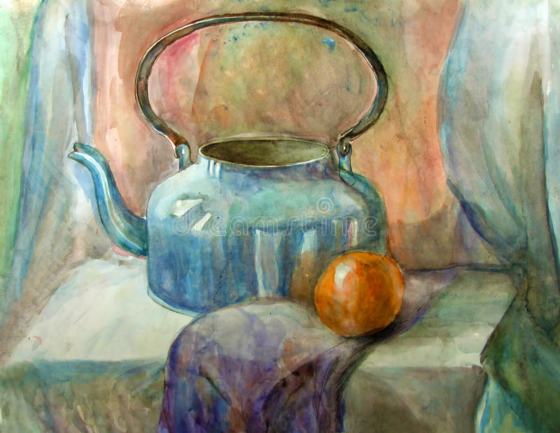Download Watercolor Still-life Painting Royalty Free Stock Image - Image: 16766216