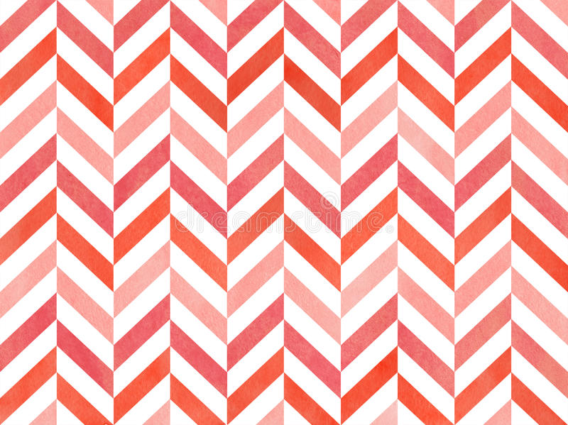 Watercolor stripes background, chevron. Watercolor pink stripes background, chevron. Geometric pattern royalty free illustration