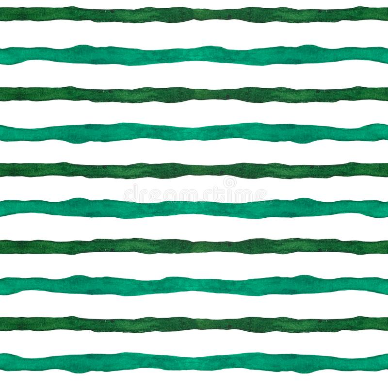 Watercolor stripes seamless pattern, hand drawn abstract texture for paper, fabric, backdrops, wrapping. Watercolor stripes seamless pattern, hand drawn abstract stock illustration