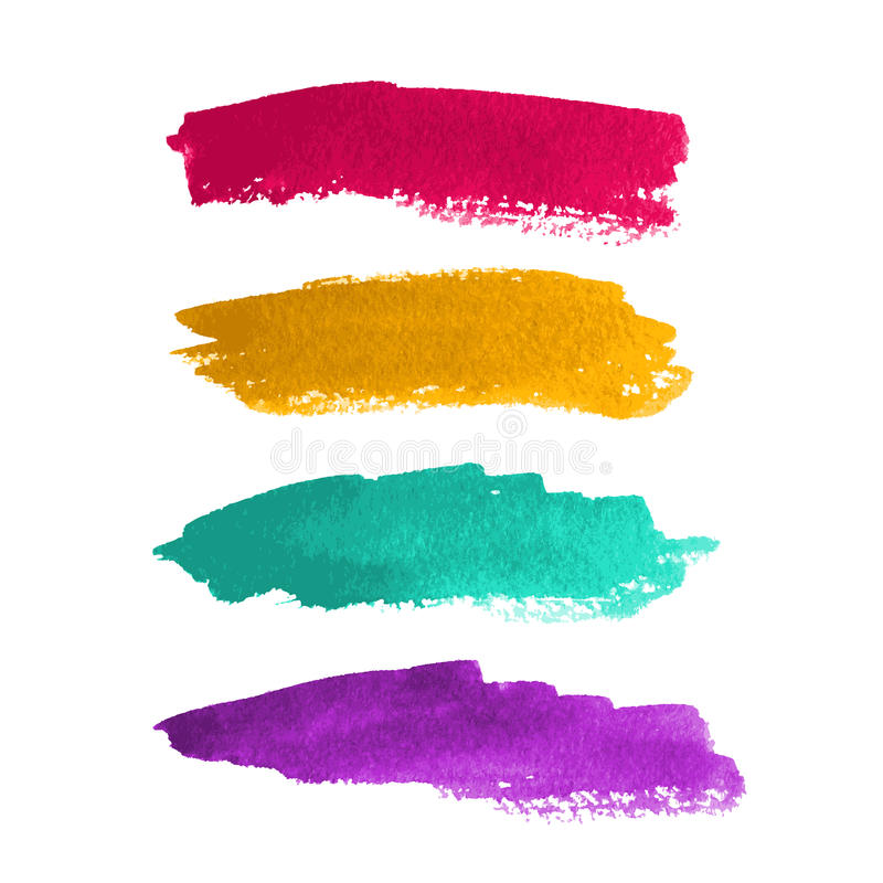 Watercolor stripes royalty free illustration