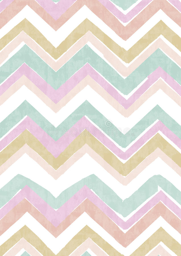 Watercolor stripes zigzag stock photo