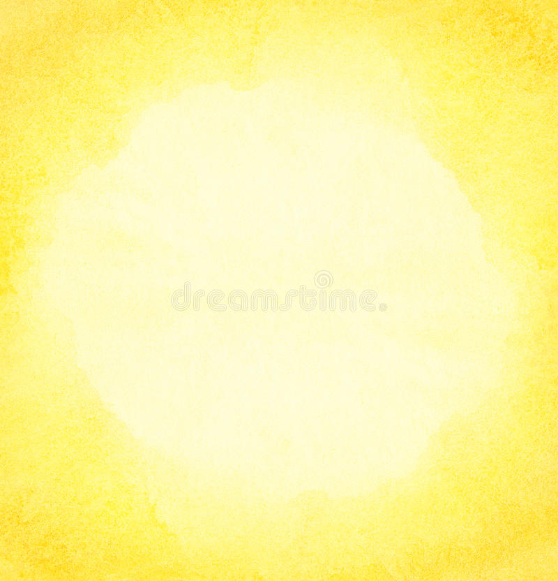 Watercolor sun background. stock image