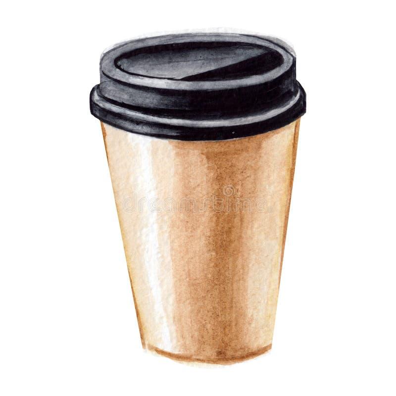 Coffee Take Away Illustration:  Coffee Cup Take Away Stock Illustration . Illustration Of
