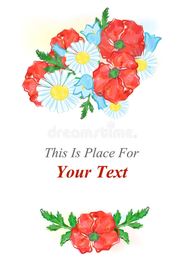 The watercolor template vector illustration