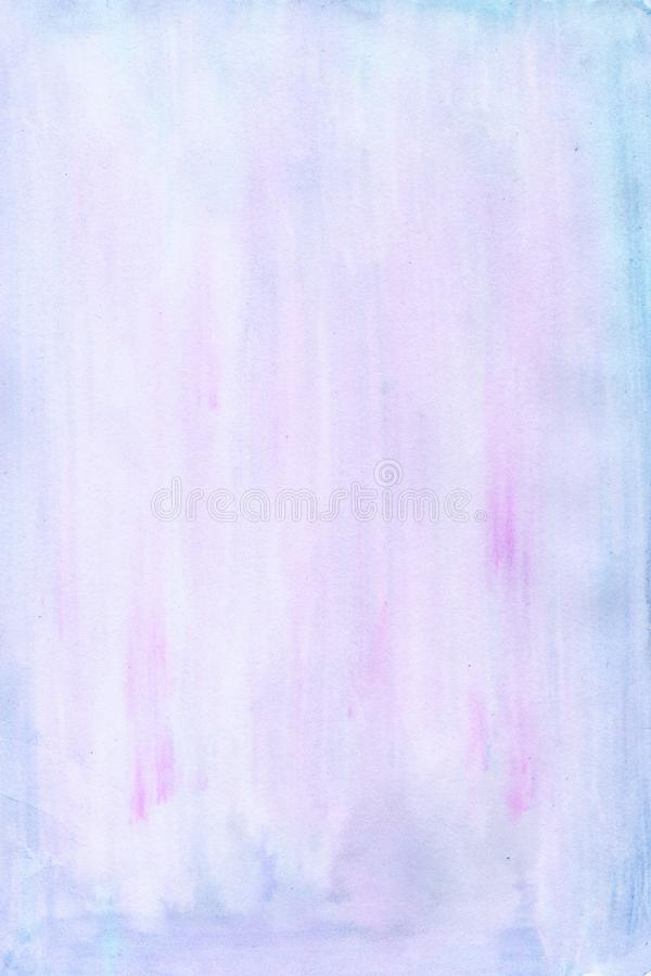 Watercolor texture background of blue purple magenta colors stock illustration
