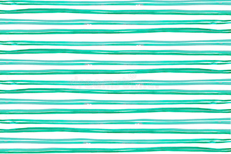 Watercolor texture Green thin stripes horizontal royalty free illustration