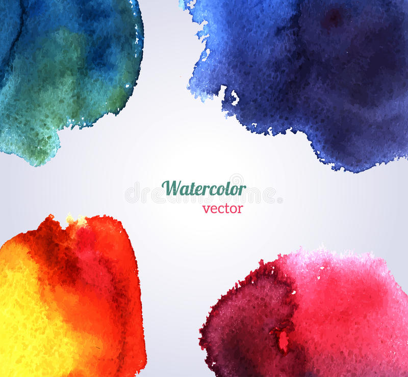 Watercolor texture. Vector illustration. Purple grunge paper template. Water. Wet paper. Blobs, stain, paints blot. Composition for scrapbook elements vector illustration
