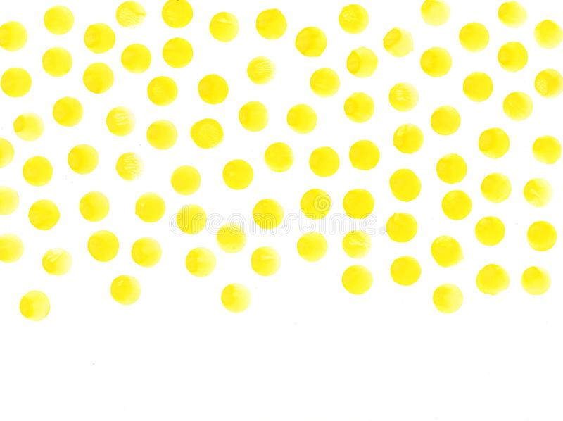 Yellow circles watercolor background. Watercolor textures abstract hand painted circles stock photos