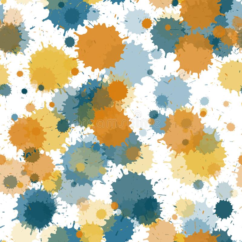 Watercolor transparent stains vector seamless grunge background. vector illustration