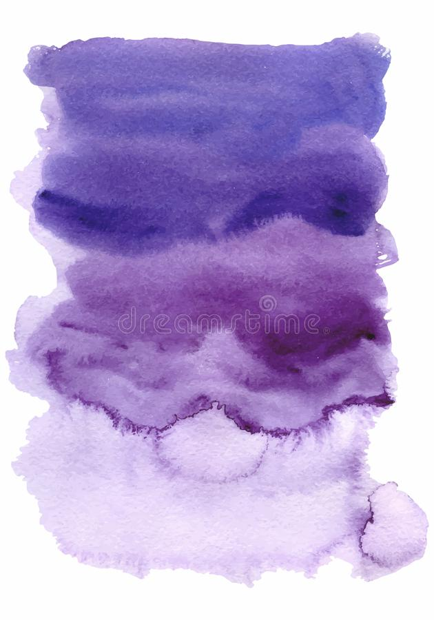 Watercolor ultraviolet, purple abstract background with washes vector illustration vector illustration