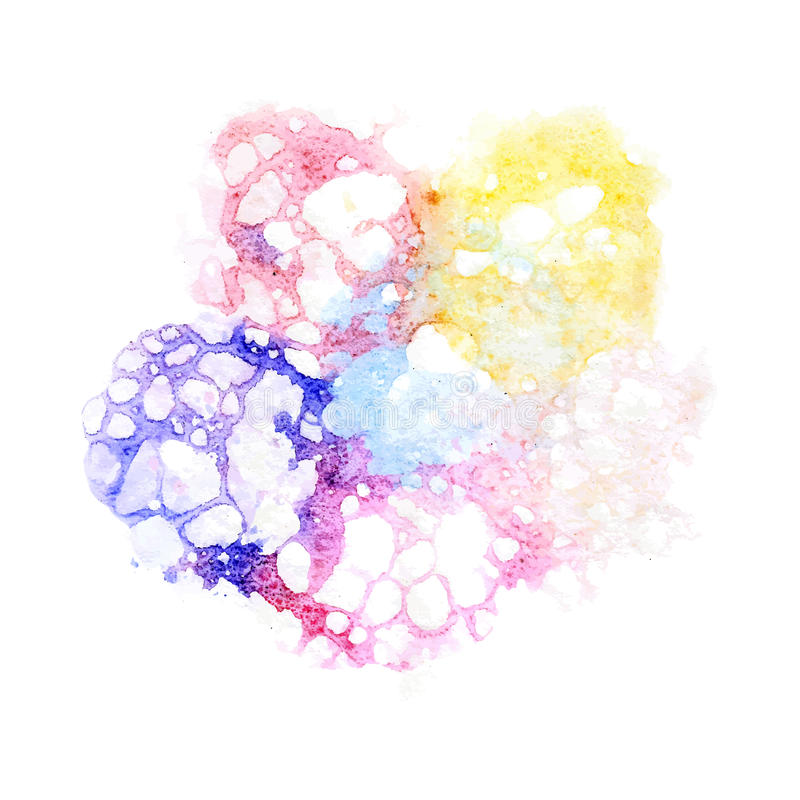 Watercolor varicolored bubbles royalty free illustration