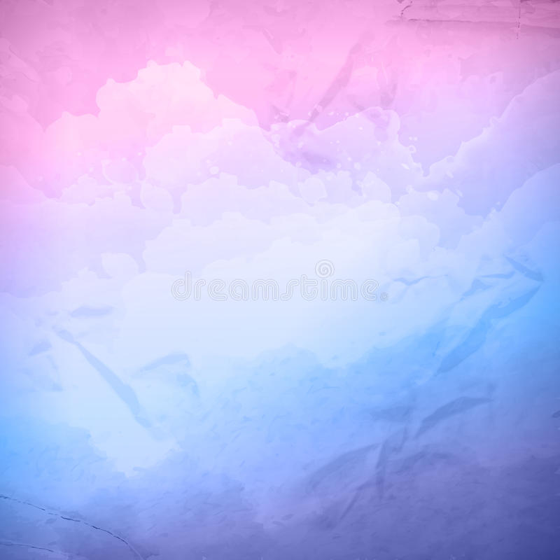 Watercolor vector cloudy sky background royalty free illustration