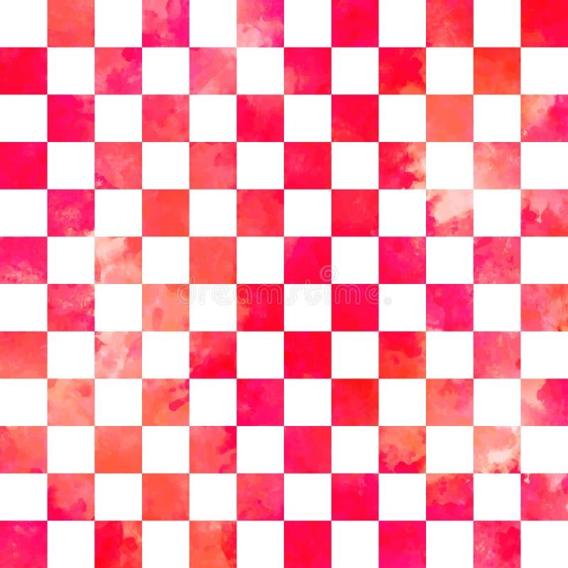 Watercolor vector geometric seamless pattern stock illustration
