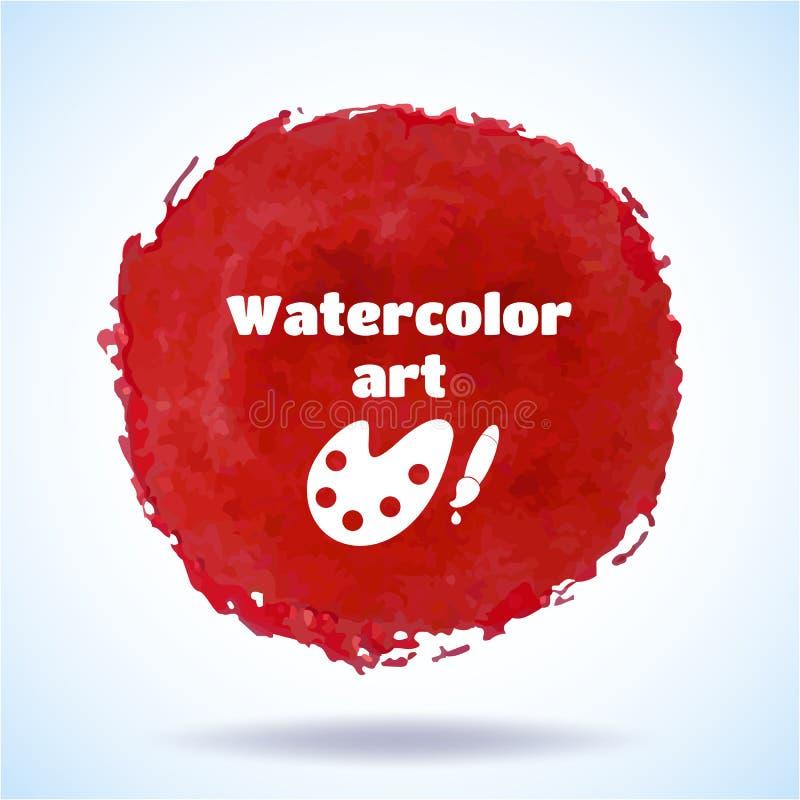 Watercolor vector handmade background. stock illustration