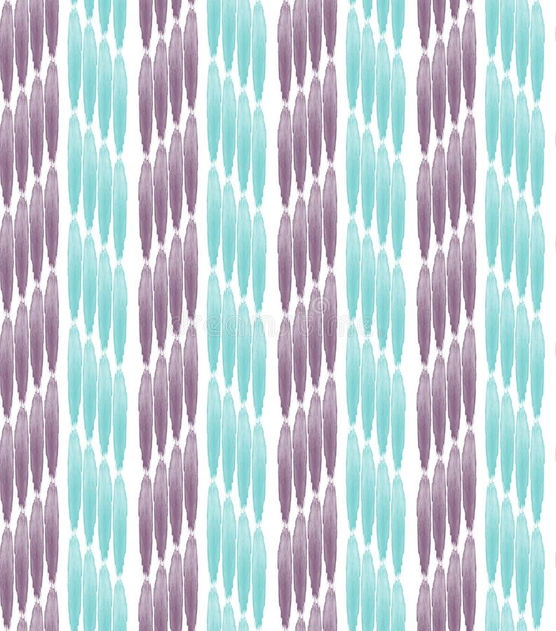 Watercolor vertical lines seamless pattern . stock illustration