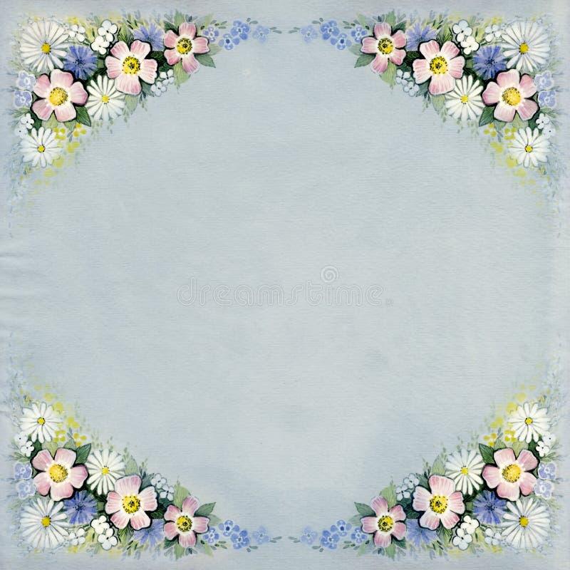 Download Watercolor Vintage Floral Background Stock Illustration - Image: 24879620