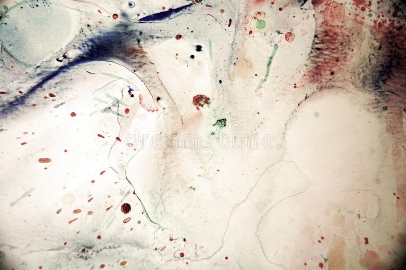 Watercolor vintage splashes and abstract background royalty free stock photos