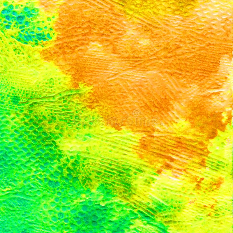 Watercolor volumetric texture for the background. Spring. Autumn. Abstract heel colors and blots. Color fills stock illustration