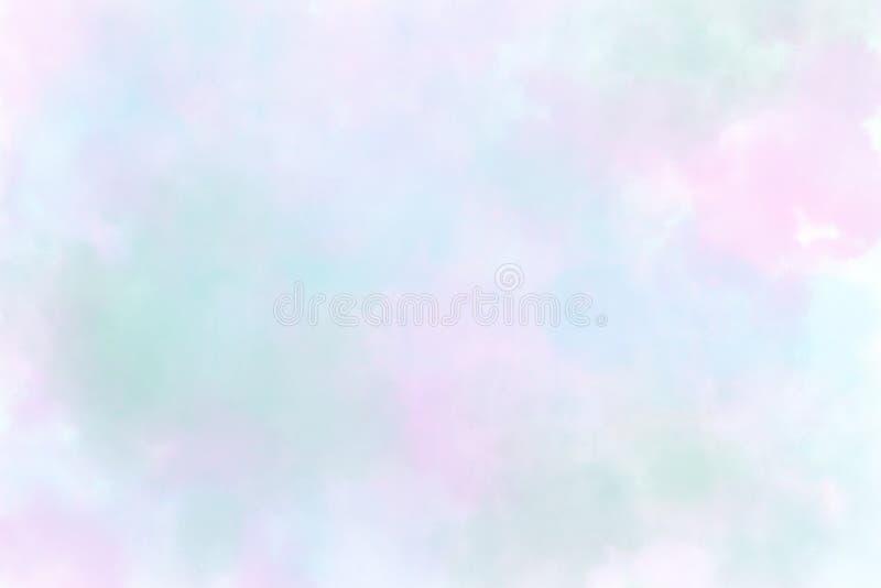Watercolor Wet Background Blauw De abstracte achtergrond van de waterverf royalty-vrije illustratie