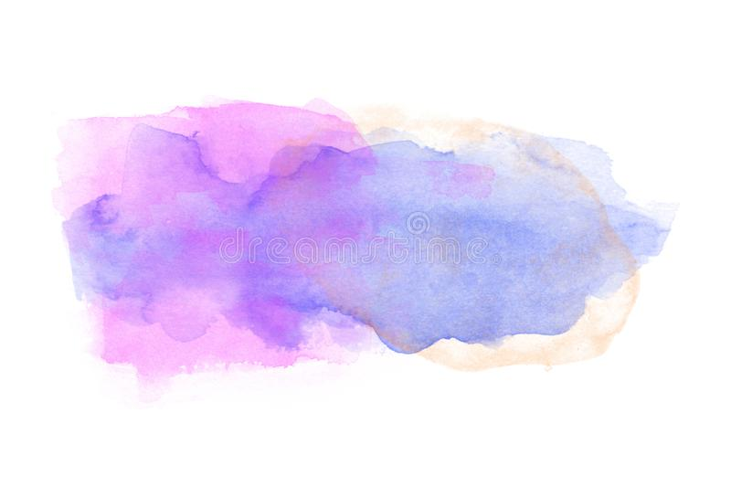 Watercolor on white background royalty free stock photo