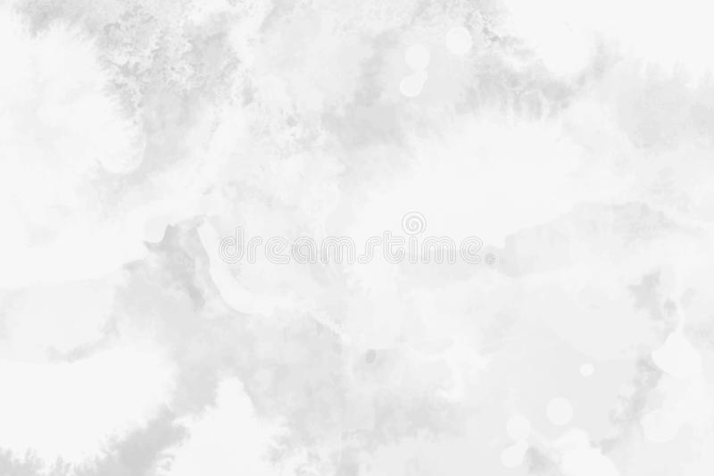 Watercolor white and light gray texture, background stock illustration